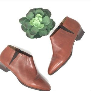 Cole Haan Leather Brown Heeled Ankle Boots